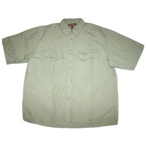 SIMMS Short Sleeve Button Front Hiking Fish Shirt